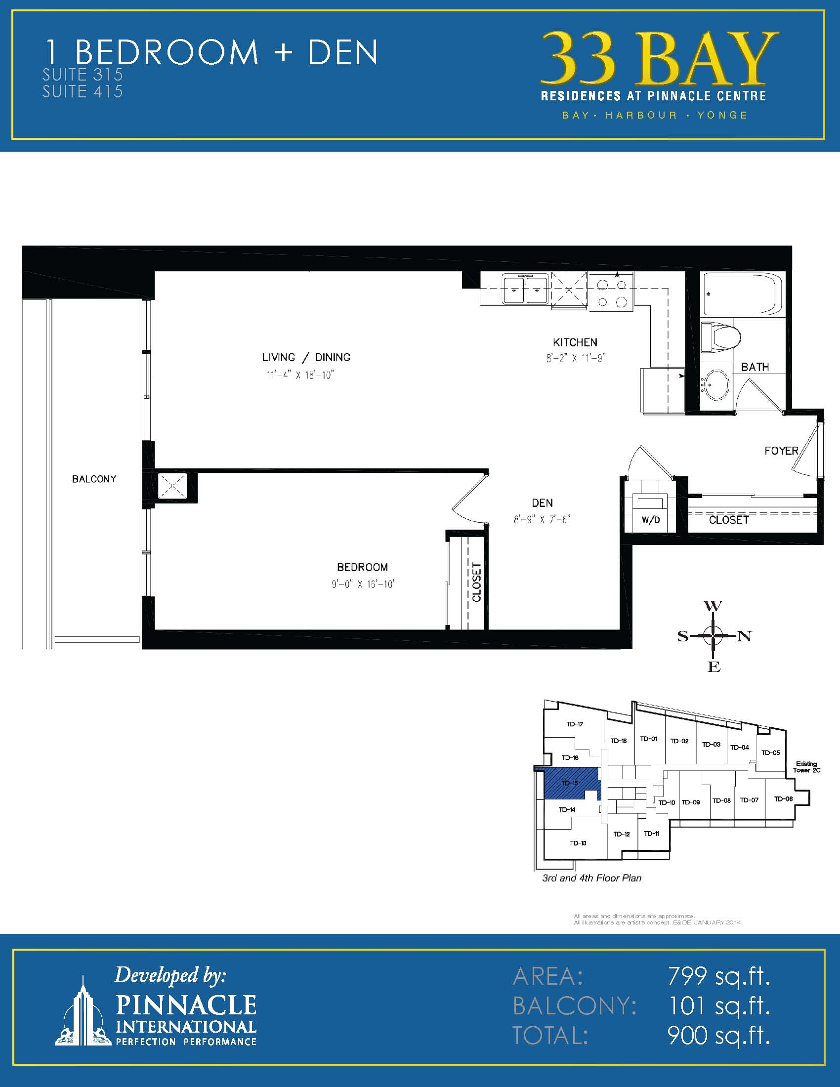 Floor plan 315 pinnacle international pinnacle centre at for 16 yonge floor plans