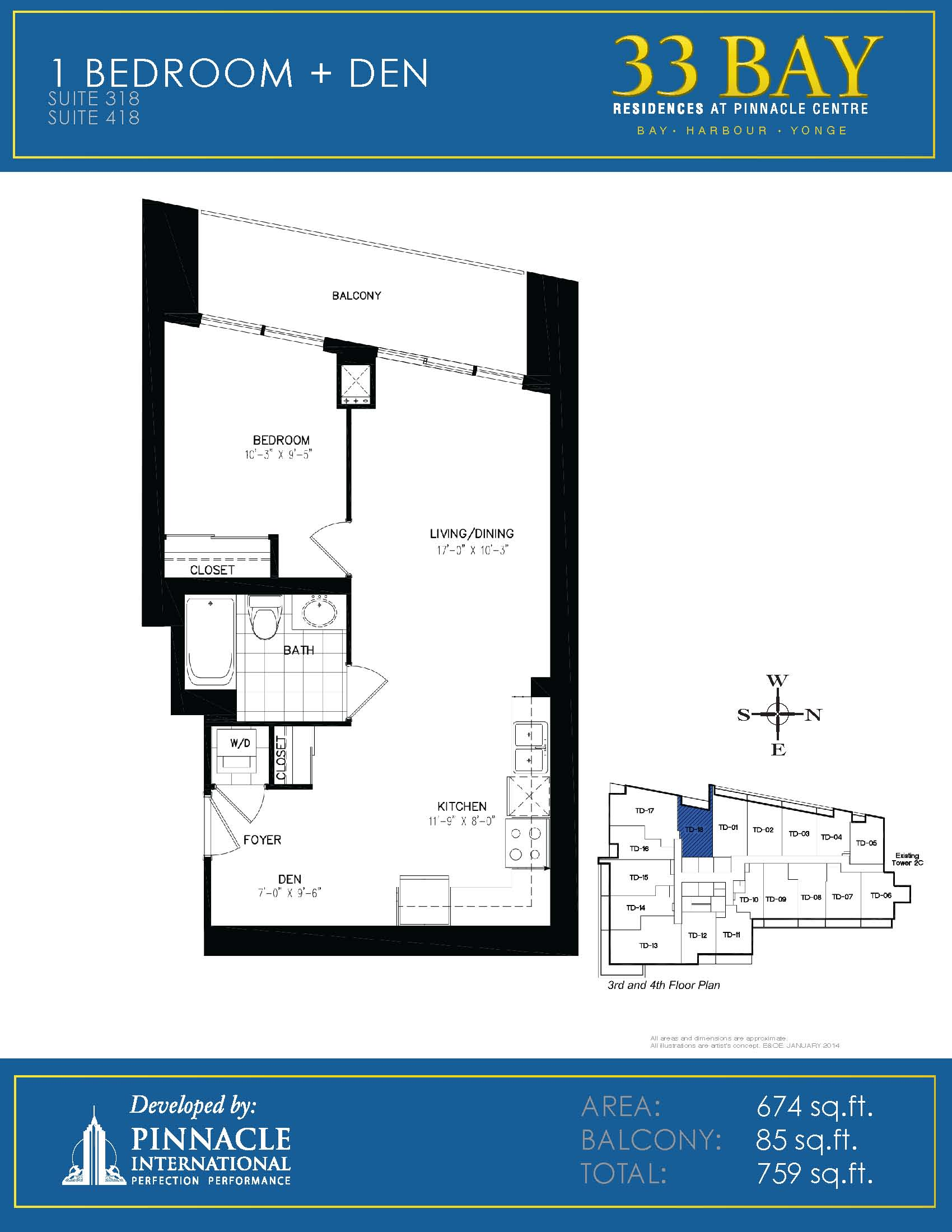 Floor plan 318 pinnacle international pinnacle centre at for 16 yonge floor plans